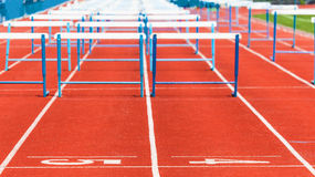 Track with obstacles Stock Images