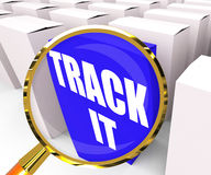 Track It Packet Means to Follow an Identification Number on a Pa Stock Images