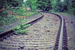 Track, Path, Rail Transport, Grass