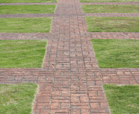 Track paving slabs laid out. Stock Photography