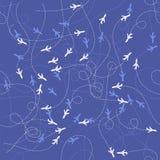 Track of Planes Seamles Pattern vector illustration