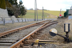 Through track - points and siding Stock Images