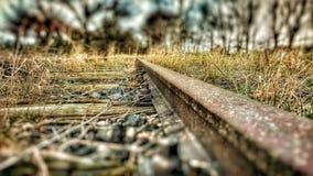 Track rail. Abandoned railway rail Stock Images