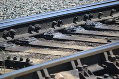 Track, Rail Transport, Metal, Steel Royalty Free Stock Photography