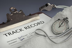 Track record close-up Royalty Free Stock Image