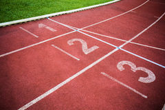 Track rounding first corner Royalty Free Stock Photo