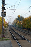 Track route of a junction line Royalty Free Stock Image