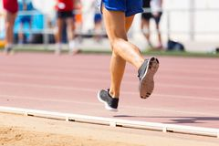 Track runner Stock Photography