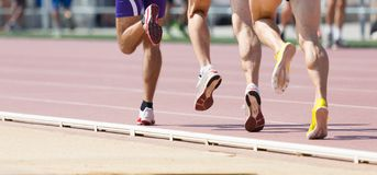 Track runner Royalty Free Stock Photography