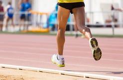 Track runner Stock Photo