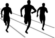 Track Runners/eps. Illustration of track and field athletes competing in a race...eps file available Royalty Free Stock Photos