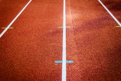 track for running competitions numbers and lanes Stock Photography