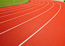 Track running lanes Royalty Free Stock Photography