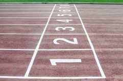 Track Running Lanes Stock Images