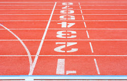 Track Running Lanes Stock Image