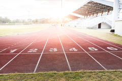 Track running Stock Images