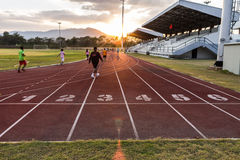 Track running Royalty Free Stock Images