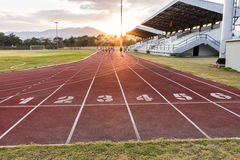 Track running stock photo