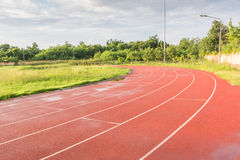 Track running in sport clup Stock Image