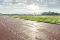 Track running in sport clup Royalty Free Stock Image