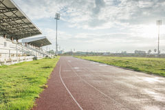 Track running in sport clup Stock Images