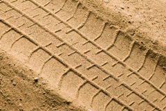 Track on sand Royalty Free Stock Images