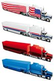 Track set. Vectorial icon set of tracks isolated on white backgrounds. Every truck is in separate layers. File contains gradients and blends Royalty Free Stock Image