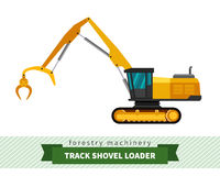 Track shovel loader Royalty Free Stock Images