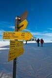 Track signs at Gerlitzen ski resort in Austrian alps. Austria Stock Photos