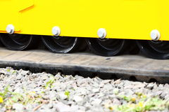 Track of small digger excavator industrial detail Royalty Free Stock Image