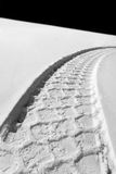 Track in snow Stock Photography