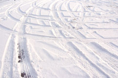 Track in the snow Stock Photography