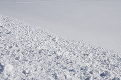 Track on snow. Royalty Free Stock Photo