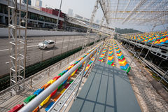 Track and spectator seats for the Macau Grand Prix. Stock Image