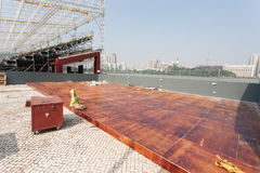 Track and spectator seats for the Macau Grand Prix. Stock Photo