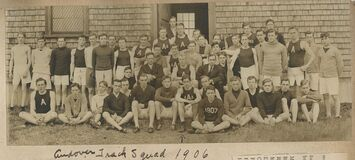 Track Squad, 1906 (from Francis Patton Scrapbook) Royalty Free Stock Photography
