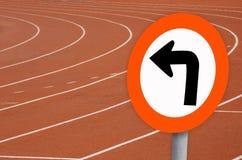 Track. In the stadium Stock Image