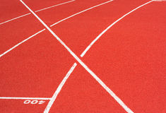 Track on the stadium Stock Photography
