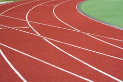 Track On The Stadium Stock Photos