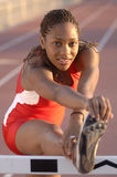 Track Star Stretch Royalty Free Stock Photography