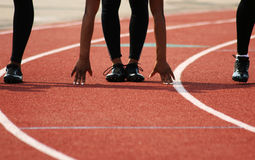 Track Start Stock Photo