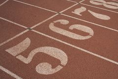 Track starting line Stock Photography