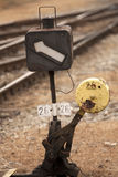 Track switch. Vintage track switch by a railway Royalty Free Stock Photography