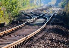 Track switch. A railwai track switch as a symbol of decicion taking Royalty Free Stock Image