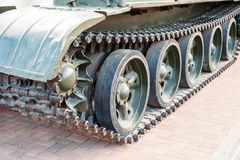 Track tank. close-up stock images