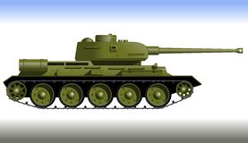 Tank. Track tank from the Second World War. Fighting vehicle Stock Photography
