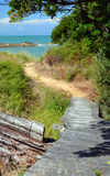 The Track To The Beach at Ngaio Bay, Abel Tasman National Park. Stock Image