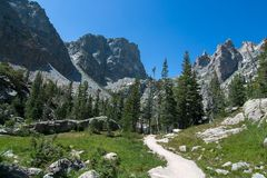Track to the Emerald Lake. Stock Image