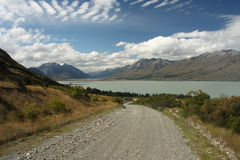 Track to lake Ohau in Southern Alps Stock Photography