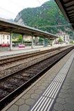 Track of train railway station Interlaken Stock Image